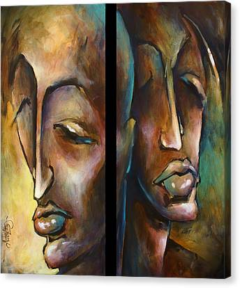 'angels Of Deception' Canvas Print by Michael Lang
