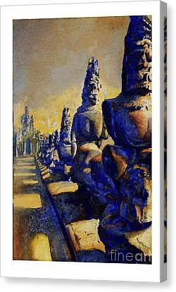 Angkor Wat Ruins Canvas Print by Ryan Fox