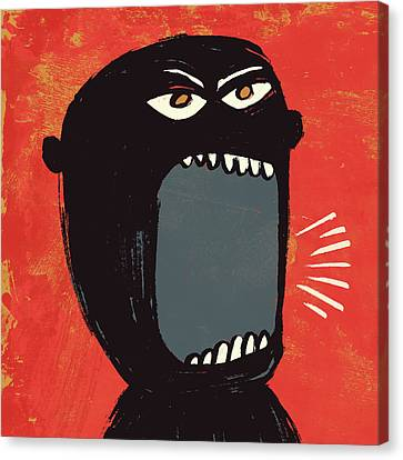 Angry Shout Man Illustration Canvas Print by Don Bishop