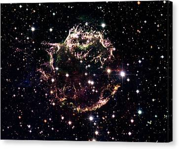Animation Of A Supernova Explosion Canvas Print by Harvey Richer