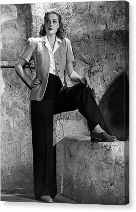 Ann Sheridan, Warner Brothers Portrait Canvas Print by Everett