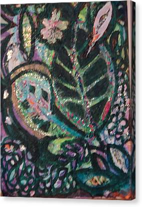 Anne Imagines Abstract Leaves Canvas Print by Anne-Elizabeth Whiteway
