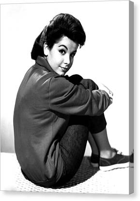 Annette Funicello, Portrait Canvas Print by Everett