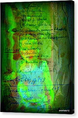 Annotations For A Life Canvas Print by Paulo Zerbato