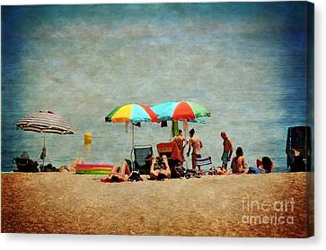 Another Day At The Beach Canvas Print by Mary Machare