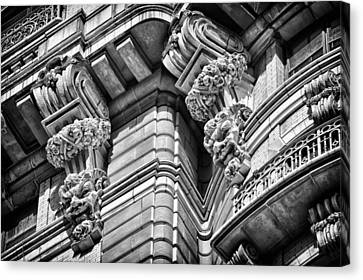 Ansonia Building Detail 42 Canvas Print by Val Black Russian Tourchin
