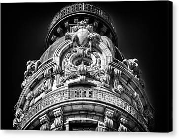 Ansonia Building Detail 48 Canvas Print by Val Black Russian Tourchin