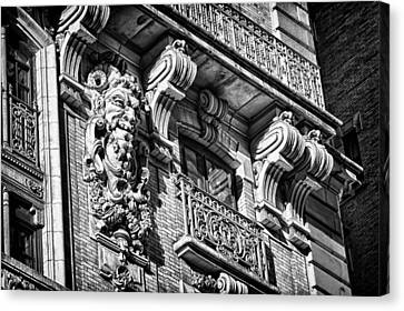 Ansonia Building Detail 6 Canvas Print by Val Black Russian Tourchin