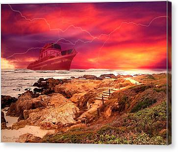 Anthony Boy Waiting Out The Storm Canvas Print by Joyce Dickens