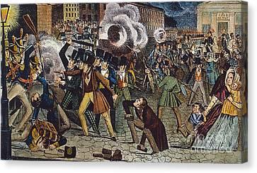 Anti-catholic Mob, 1844 Canvas Print by Granger