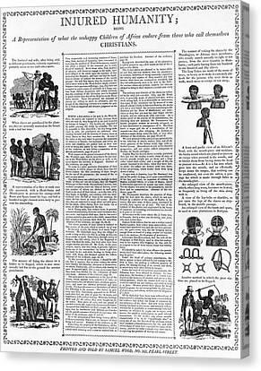 Anti-slavery Broadside Canvas Print by Granger