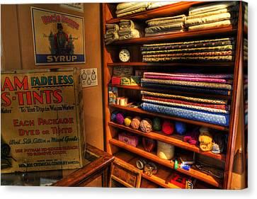 Antique General Store Linen - General Store - Vintage - Nostalgia Canvas Print by Lee Dos Santos