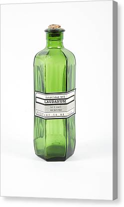 Antique Laudanum Bottle Canvas Print by Gregory Davies, Medinet Photographics