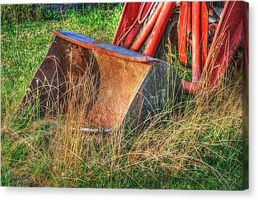 Antique Tractor Bucket Canvas Print by Jennifer Ancker