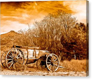 Antique Wagon Canvas Print by Bob and Nadine Johnston