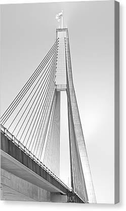 Anzac Bridge - Glebe Nsw Canvas Print by Mark Lucey