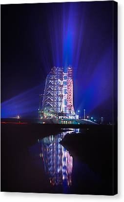 Apollo 11 Sits On Its Launchpad Canvas Print by O. Louis Mazzatenta