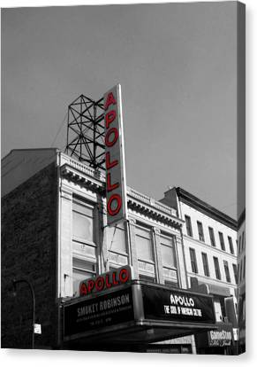 Apollo Theater In Harlem New York No.2 Canvas Print by Ms Judi