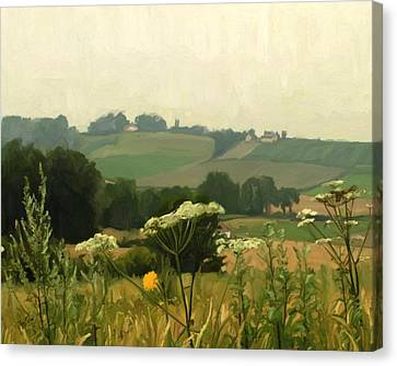 Apostelhoeve In The Jeker Valley Canvas Print by Nop Briex