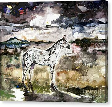 Appaloosa Spirit Horse Painting Canvas Print by Ginette Callaway