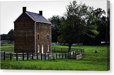 Appomattox County Jail Canvas Print by Teresa Mucha