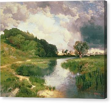 Approaching Storm Canvas Print by Thomas Moran