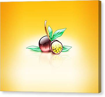 Aqua Passion Fruit  Canvas Print by Mohamed Riyah