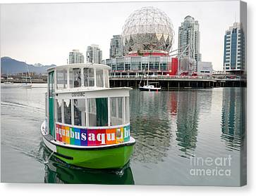 Aquabus Telus World Of Science False Creek Vancouver Bc Canada Canvas Print by Andy Smy