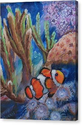 Aquarium Clown Canvas Print by Trudy Morris