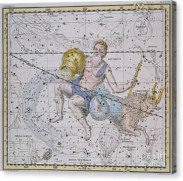 Aquarius And Capricorn Canvas Print by A Jamieson
