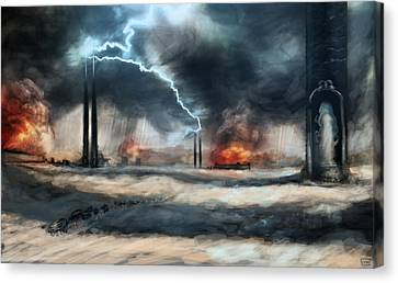 Arc Towers Canvas Print by Ethan Harris