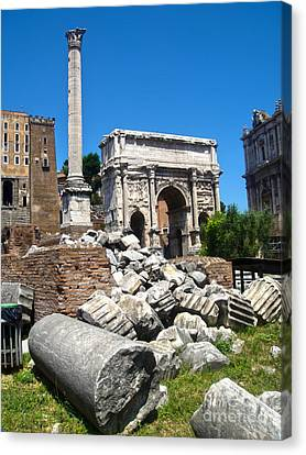 Arch Of Septimius Severus Canvas Print by Gregory Dyer