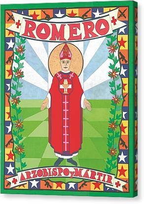 Archbishop Romero Icon Canvas Print by David Raber