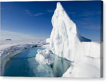 Arctic Sea Ice Melting, Canada Canvas Print by Louise Murray