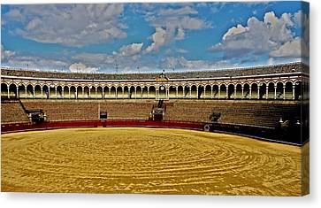 Arena De Toros - Sevilla Canvas Print by Juergen Weiss