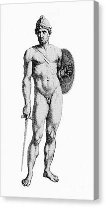 Ares, Greek God Of War Canvas Print by Photo Researchers