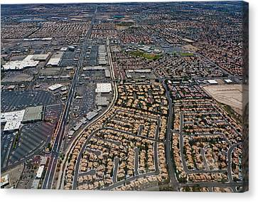 Arial View Of Las Vegas Canvas Print by Susan Stone