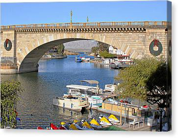 Arizona Import - Iconic London Bridge Canvas Print by Christine Till