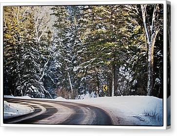 Around The Bend Canvas Print by Lisa  Spencer