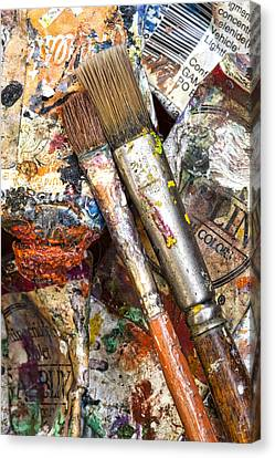 Art Is Messy 2 Canvas Print by Carol Leigh