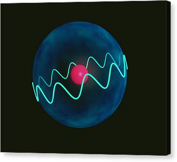 Art Of Hydrogen Atom With Electron In Orbital Canvas Print by Laguna Design