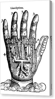Artificial Hand Designed By Ambroise Canvas Print by Science Source