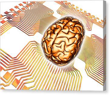 Artificial Intelligence, Computer Artwork Canvas Print by Pasieka