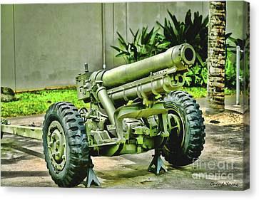 Artillery Canvas Print by Cheryl Young