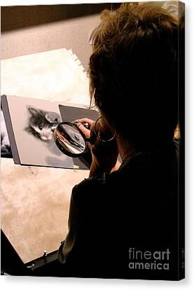 Artist At Work Canvas Print by Al Bourassa