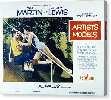 Artists And Models, Jerry Lewis Canvas Print by Everett