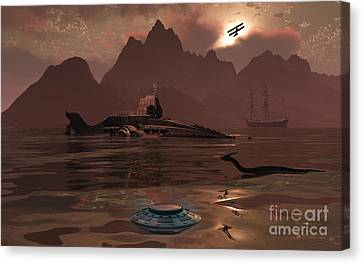 Artists Concept Of An Ancient Canvas Print by Mark Stevenson