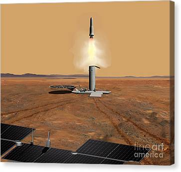 Artists Concept Of An Ascent Vehicle Canvas Print by Stocktrek Images