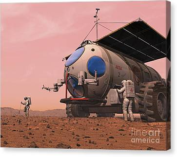 Artists Concept Of How A Martian Canvas Print by Walter Myers