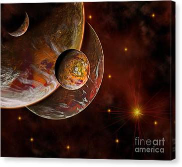 Artists Concept Of The Birth Place Canvas Print by Mark Stevenson